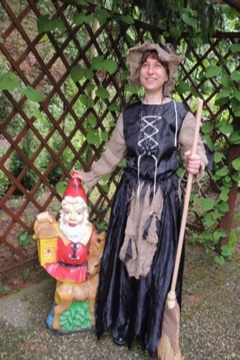 Čarodějka s trpaslíkem